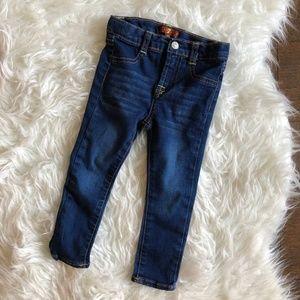 7 For All Mankind Girls 2T Dark Blue Skinny Jeans